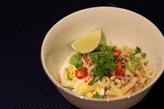 The Food Canon - Inspiring Home Cooks: Ohn-No Kyauswe Recipe (Coconut Noodles) Recipe (Burmese Laksa)