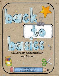 Classroom Organization & Decor  Teach it With Class