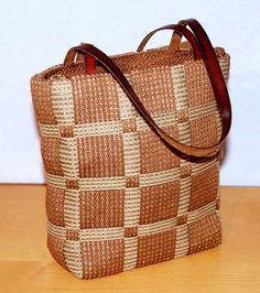 Original Vintage Canvas Leather Bag Double Handle Bag Brown Color DE WAN Borsa Donna Doppia Spallina in Cuoio Marrone Beige a Quadri di BeHappieWorld su Etsy