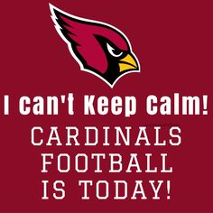 "Arizona Cardinals ""I can't keep calm"" 2016 Arizona Cardinals Football, Louisville Cardinals, Arizona Cardinals Wallpaper, Az Cards, Football Conference, Usc Trojans, School Signs, Football Memes, Cant Keep Calm"