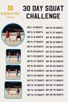 Soulful Sweat 30 Day Squat Challenge