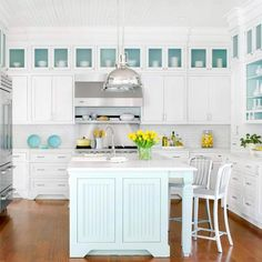 Traditional Coastal Style Kitchen in South Carolina 8 Traditional Coastal Style in White Modern Kitchen