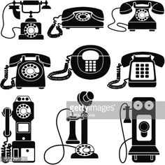 old fashioned telephone clipart - Google Search