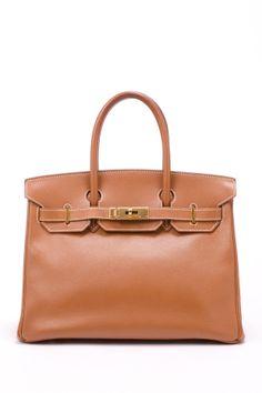 Vintage Hermes Leather Birkin 30 (Stamp: Square B, Gold Hardware) Handbag