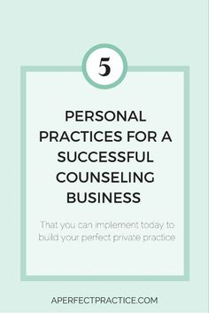 When it comes to working in private practice there are so many elements that contribute to your success beyond just your therapeutic skills. In addition to the clinical work you are doing with your clients you are also a business owner and as such there are certain business practices that are highly