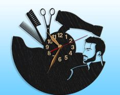 Beauty Salon Hair Salon Clock Black Wall Clock 12 inch30