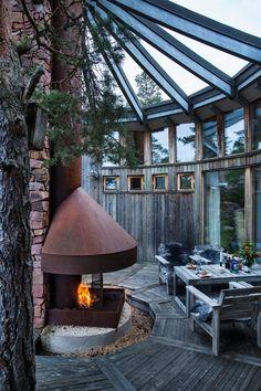 GILL RENLUND Balcony Garden, Country Living, Indoor, Island, Outdoor Decor, Summer, House, Fire Places, Instagram