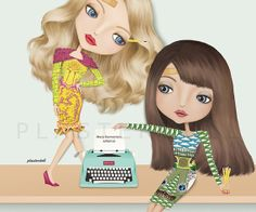 Plasterdoll Ads for Mary Katrantzou 10 x 12 inches by PlasterDoll, $25.00