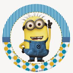 printable+minion+decals | Despicable Me Free Printable Toppers, labels or stickers.