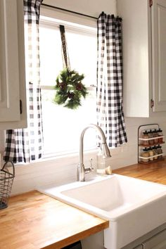 Agreeable buffalo check curtains kitchen Pics, amazing buffalo check curtains kitchen for love the black and white buffalo check curtains house ideas inside elegant farmhouse kitchen curtains 16 gray and white buffalo check kitchen curtains Farmhouse Kitchen Curtains, Kitchen Window Curtains, Kitchen Window Treatments, Home Decor Kitchen, Home Kitchens, Farmhouse Decor, Kitchen Window Decor, Kitchen Ideas, Modern Farmhouse