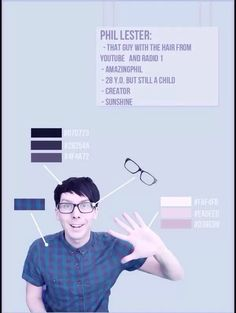 Actual ray of sunshine. Here you go Phandom Artists, a good reference of colors for drawing Phil!