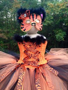 Tiger, Cat Tutu Costume with Mask Tutu Costumes Kids, Dress Up Costumes, Halloween Costumes, Costume Ideas, The Mask Costume, Tiger Costume, Halloween 2015, Halloween Cat, Dress Out