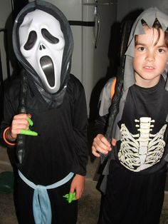 Happy Halloween! Cameron and Kyle dressed up :)