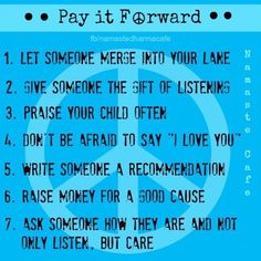 Pay it forward homework