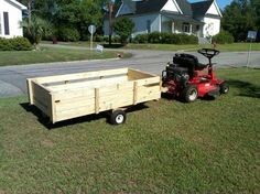 I have been a follower of Instructables for about a year, and have learned some interesting and handy things here. This Lawnmower Utility Trailer is my first contribution. This thing measures 3'x6' bed, 8' total length, perfect for hauling leaves and yard trash, but has many other applications. Based on tire rated capacity (and experience), I recommend it for up to 400 pound payloads (each tire is rated at 300 pounds, so 400 pound payload PLUS the trailer weight of 100+ pounds). This is my…