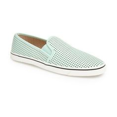 DV by Dolce Vita 'Gibsin' Perforated Slip-On Sneaker (Women) Womens... found on Polyvore