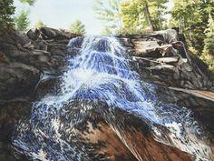 High Falls in Algonquin Park, 18 x 24 Watercolour.