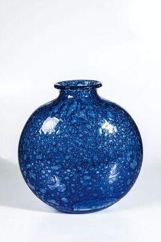 "Große Vase ""Efeso""Ercole Barovier (Entwurf), Barovier & Toso, Murano, 1964 Farbloses, stark blasig — Modernes Glas & Studioglas"