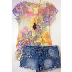 Tie dye paisley t Bright colored tie dye shirt with paisley pattern. Size xs. Tops Tees - Short Sleeve
