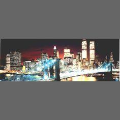 New York Manhattan Skyline mural wallpaper, 4 part: 1472   City mural wallpaper