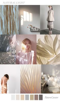 NATURAL LIGHT by PatternCurator for Fashion Vignette Colour Schemes, Color Trends, Color Patterns, Design Trends, Web Design, Blog Design, Color Combinations, Pattern Curator, 2018 Color