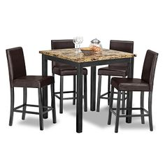 Keystone II Dining Room 5 Pc. Counter Height Dinette - Value City Furniture $229.99