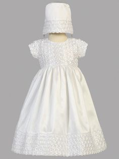 Adorable Baby Clothing - Baby Girl Taffeta Christening Gown with Ribbon Embroidery, $65.00 (http://www.adorablebabyclothing.com/baby-girl-taffeta-christening-gown-with-ribbon-embroidery/)