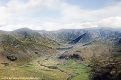 Aerial view of Kentmere Reservoir in the Lake District National Park, Cumbria, England