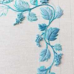 Wedgwood Grapes Skyblue #embroidery#mat#matseries . . . #fevertoday #textile#textileart#stitch#hoopart#wedgwood#grape#bunch#skyblue#queensware#자수#프랑스자수#웨지우드#퀸즈웨어#needlework#bordado#Вышивка#pattern#design#craft#handmade#stitches#textiledesign#lavender