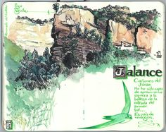 de vuelta con el cuaderno: Cuaderno Muaré (3. + Valencia) Jalance, cañones del Júcar