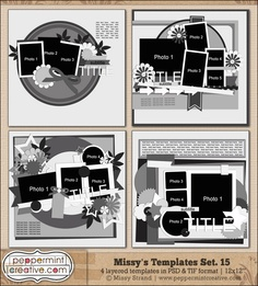 "Missy's Templates Set.15  (12x12"")"