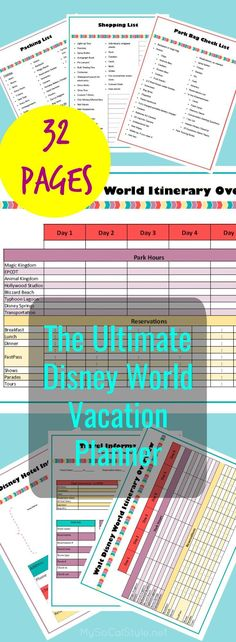 Check out this Mega Planner for your next Disney World Vacation! | #DisneyWorld | #Vacation | #Planner