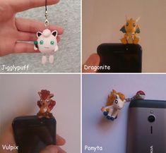 Pokemon Charm, Dust Plug, Jigglypuff, Dragonite, Vulpix, Ponyta  #pokemon #jigglypuff #dragonite #vulpix #ponyta #polymerclay #claycrafts #charms #kawaii Polymer Clay Figures, Polymer Clay Charms, Pokemon Jigglypuff, Dust Plug, Charizard, Clay Crafts, Little Gifts, Plugs, Kawaii