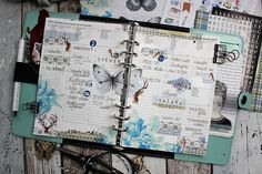 Creative pages by amaryllis775: Filofaxing / Blue Vintage