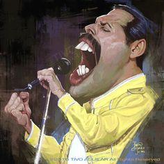 Freddie Mercury por Tivo Aguilar