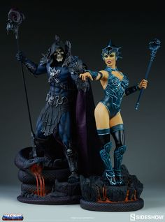 Masters of the Universe Evil-Lyn Classic Statue by Sideshow   Sideshow Collectibles Comic Manga, Anime Manga, 1980 Cartoons, Legends And Myths, Disney Rides, Star Wars Models, Masters, Cartoon Tv Shows, Cyberpunk Art