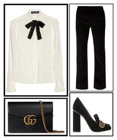 """work"" by shes-a-rainbow ❤ liked on Polyvore featuring Dolce&Gabbana, Bouchra Jarrar and Gucci"