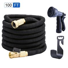 4 Of The Best Expandable Hose That'll Be Perfect For You - All About Gardens Hose Storage, Bag Storage, Water Garden, Garden Hose, Garden Tools, Petits Hangars, Cleaning Vinyl Siding, Heavy Rubber, Trousers