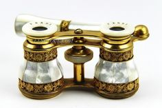 Antique Fancy French Opera Glasses with Retractable Handle Mother of Pearl 4 | eBay