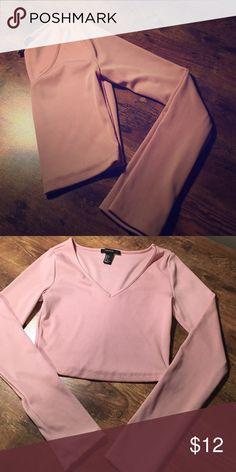 💘💘 Pink crop top! 💘💘 Long sleeve pink crop. Size small. Tops Crop Tops