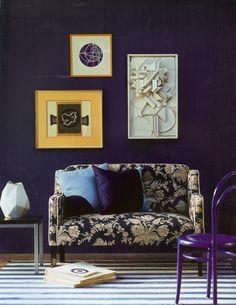 Zoffany {via Decor Arts Now } purple wall