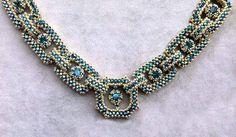 Shining Moment necklace by Jill Wiseman Bead Jewellery, Seed Bead Jewelry, Jewelry Art, Beaded Jewelry, Handmade Jewelry, Jewelry Design, Beaded Bracelets, Seed Beads, Geometric Necklace