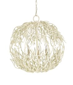 Eventide White Coral Sphere Chandelier #everythingcoastal #needthis