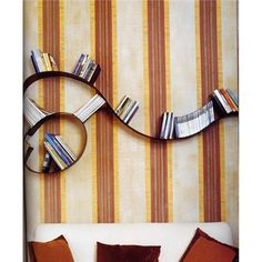 Buy the flexible Bookworm Wall Shelf by Kartell at Smart Furniture. Designed by Ron Arad, Bookworm is the most creative wall shelf around. Bookshelf Design, Wall Shelves Design, Bookshelf Ideas, Wall Shelving, Bookshelf Bench, Bookshelf Decorating, Bookshelf Inspiration, Shelving Units, Furniture Inspiration
