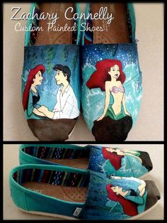 Disney's The Little Mermaid Toms Shoes on Etsy, $150.00