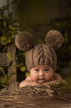 CCC113 Fuzzy Bear Baby Prop Hat - LAST CALL