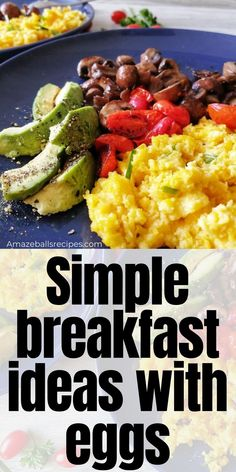 Looking for Simple breakfast ideas with eggs? Discover egg mushroom breakfast easy recipe. Mushroom egg recipes. Mushroom breakfast recipes Clean Eating Menu, Clean Eating Grocery List, Eggs And Mushrooms, Stuffed Mushrooms, Stuffed Peppers, Amazeballs Recipe, Egg Recipes For Breakfast, Breakfast Ideas, Clean Eating For Beginners