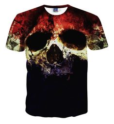392661475b2 Top Quality Halloween Men Brand Clothing Short Sleeve T Shirt Skulls Print T -Shirt Mens Casual Tie Dye Tshirt Homme Camisetas