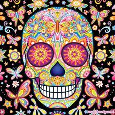 Sugar Skull Art by Thaneeya McArdle created in Adobe Illustrator http://amzn.to/1Q7uyad