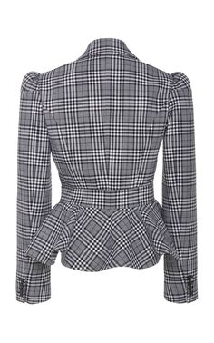 Shop Prince of Wales Checked Peplum Wool Blazer. Taking on fabrics traditionally found in menswear, Michael Kors' jacket is made from wool in a Prince of Wales check. Classy Outfits, Cute Outfits, Pencil Dress Outfit, Leather Trench Coat, Dress Making Patterns, Michael Kors Jackets, Michael Kors Collection, Cashmere Cardigan, Wool Vest